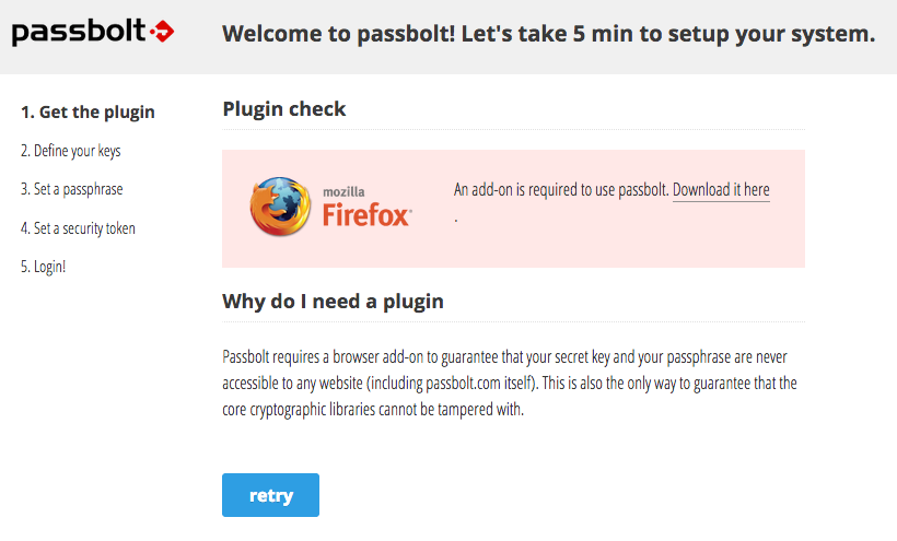 Passbolt Firefox