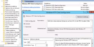 NtpServer Eintrag definieren unter Windows-NTP-Client konfigurieren Subelement