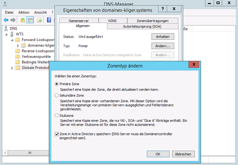 Zone in Active Directory ...