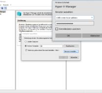Verbindung mit Hyper-V 2016 Server